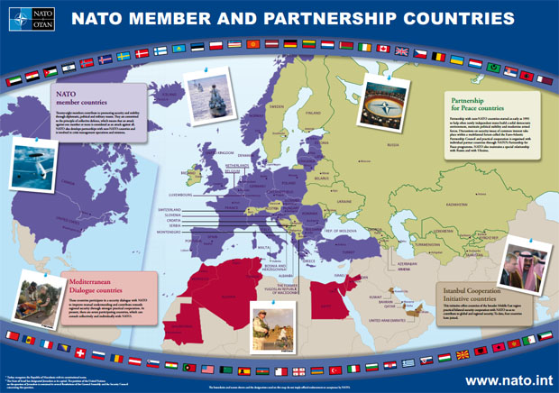 The above diagram of NATO countries is from the NATO website. Click here to open a bigger version.